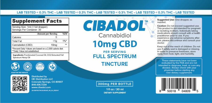Cibadol 300mg FSO Tincture