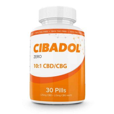Cibadol ZERO – 10:1 CBD|CBG Softgel CBD Pills