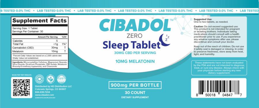 Sleep Tablet Label